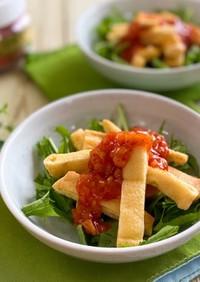 キムチリソース 薄揚げと水菜のサラダ