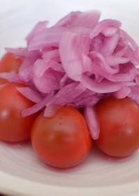 プチトマトのサラダ・マリネ♡紫玉ねぎのせ