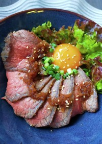 お家で簡単ローストビーフ丼✩玉ねぎソース
