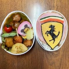 フェラーリのエンブレムお弁当