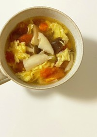 鶏ガラの代わりにアレで!酸辣湯スープ♪
