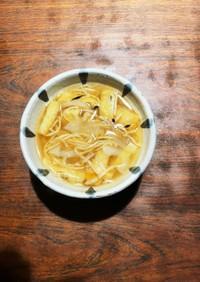 切り干し大根&油揚げの根菜合わせ味噌汁