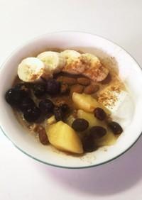 ダイエット中の朝ごはんオートミール♡