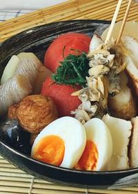 夏・冷やしおでん関西風 丸ごとトマト