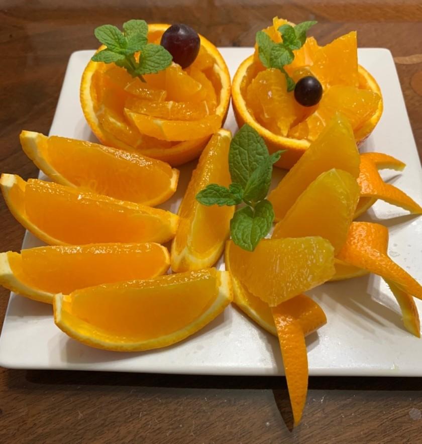 オレンジの飾り切りの盛り合わせ