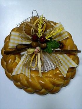 パンでクリスマスリース