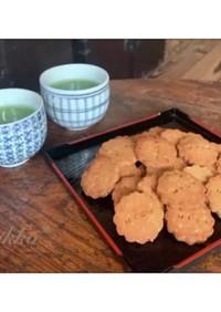 大豆粉とおからパウダーのお味噌クッキー