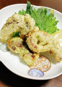 絶品 おつまみ✨たこ天ぷら 青のり風味