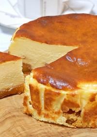 とろとろ濃厚アップルバスクチーズケーキ