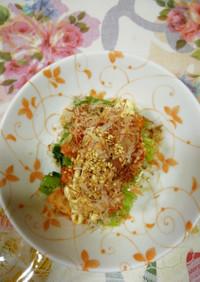 小松菜のキムチマヨのせ