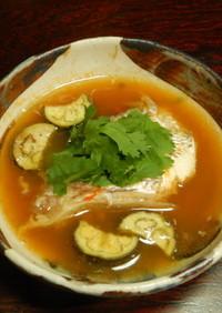 白身魚の赤いスープ・本格タイ料理
