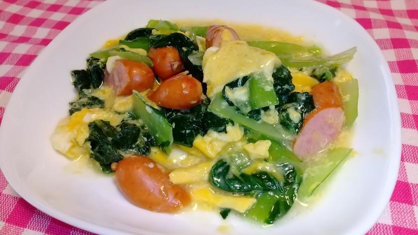 ターサイと卵のふんわり中華炒め