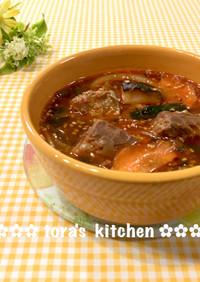 サバ味噌煮缶deダシ要らず☘️簡単チゲ風