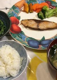 ぶりのハーブ塩コショウオリーブオイル焼き