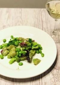 【セブン】タコとブロッコリーバジルサラダ