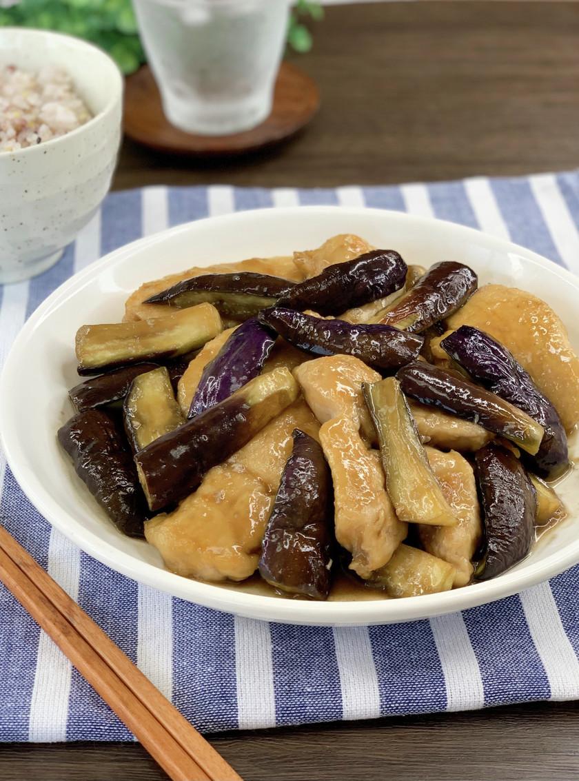 ご飯進む*鶏むね肉とナスの生姜照り焼き*