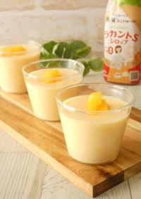 電子レンジ★桃ミルクプリン