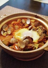 あさりと豆腐と野菜のヘルシースンドゥブ