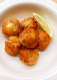 はんぺんと魚肉ソーセージのチーズボール