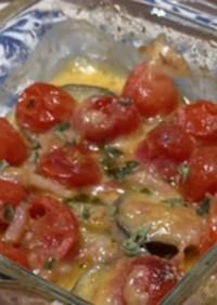 なすとプチトマトのチーズ焼き