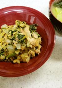 ♥ツナと野菜のカレー炒め&キャベツ味噌汁