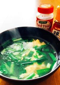 ニラと豆腐の中華スープ