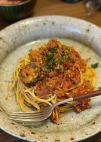 茄子のボロネーゼスパゲッティ