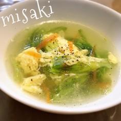 ふわふわたまごのレタススープ☆