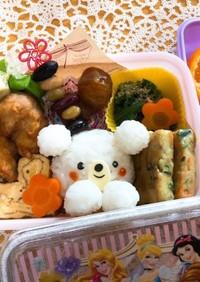 6歳児♡かわいいシロクマちゃん弁当