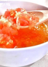 おろしトマトスープ♡レモン風味♡