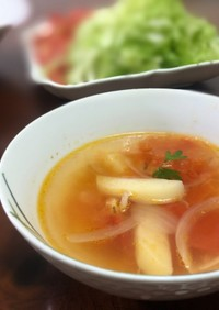 夏場にピッタリ簡単トマトスープ