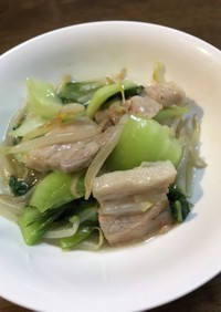 ♪超簡単♪青梗菜と豚バラ 塩バージョン♡