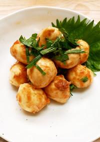 一口モッツァレラチーズの麺つゆ漬け