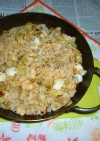 シーフードミックス&ツナマヨ炒飯