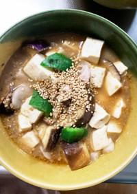 豚こまあっさりピリ辛炒め味麻婆豆腐茄子