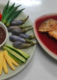 アジアンディップと夏野菜オンパレード
