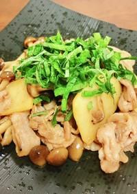 10分以下☆豚肉と長芋のにんにく醤油炒め