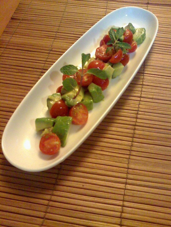 アボカドとトマトのナムル