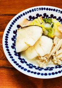 鱈と白菜とエノキのバター煮