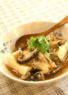 きのこのあんかけ豆腐☆柚子こしょう味