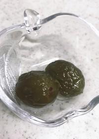 梅の甘露煮@梅シロップの梅で