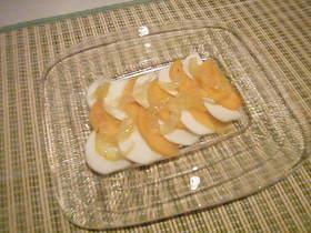 柿とカブのカルパッチョ風サラダ