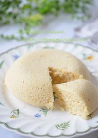 3分で☆米粉とおからパウダーの蒸しケーキ