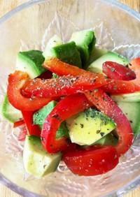 みんな大好き トマト アボカド サラダ