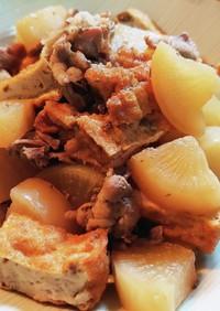 豚肉と厚揚げと大根の煮物