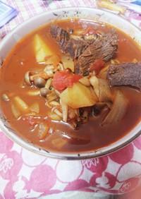 牛タンのトマト缶煮込み