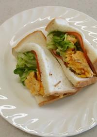 【使いきり】キャベツとハム卵サンド