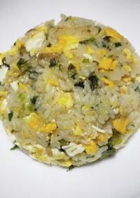 高菜漬けが余ったら簡単高菜炒飯に。