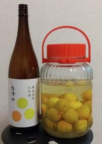 日本酒で作るまろやか梅酒