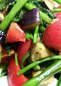 空芯菜と夏野菜の中華炒め